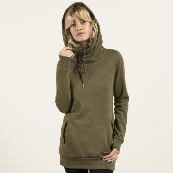 Sudadera De Cuello Alto Con Capucha Walk On By