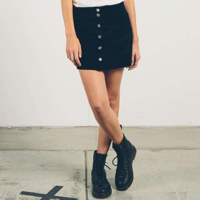 Minifalda Trapecio Con Botones Gmj Skirt