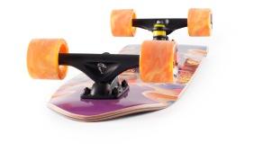 Landyachtz Dinghy Beast Wreck Mini Cruiser Longboard Skateboard Angle-face